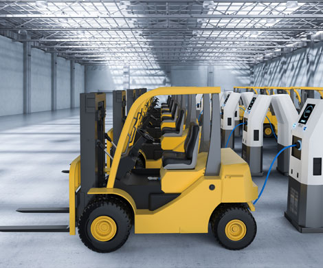Forklifts power chargers